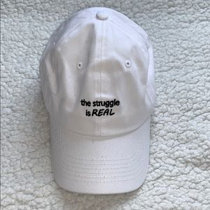 Accessories - The Struggle is real White Dad Hat